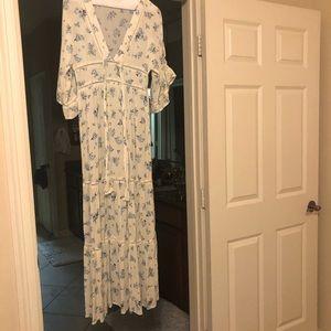 ASOS Dresses - Asos Maxi Dress - Blue White Floral Print - US 4